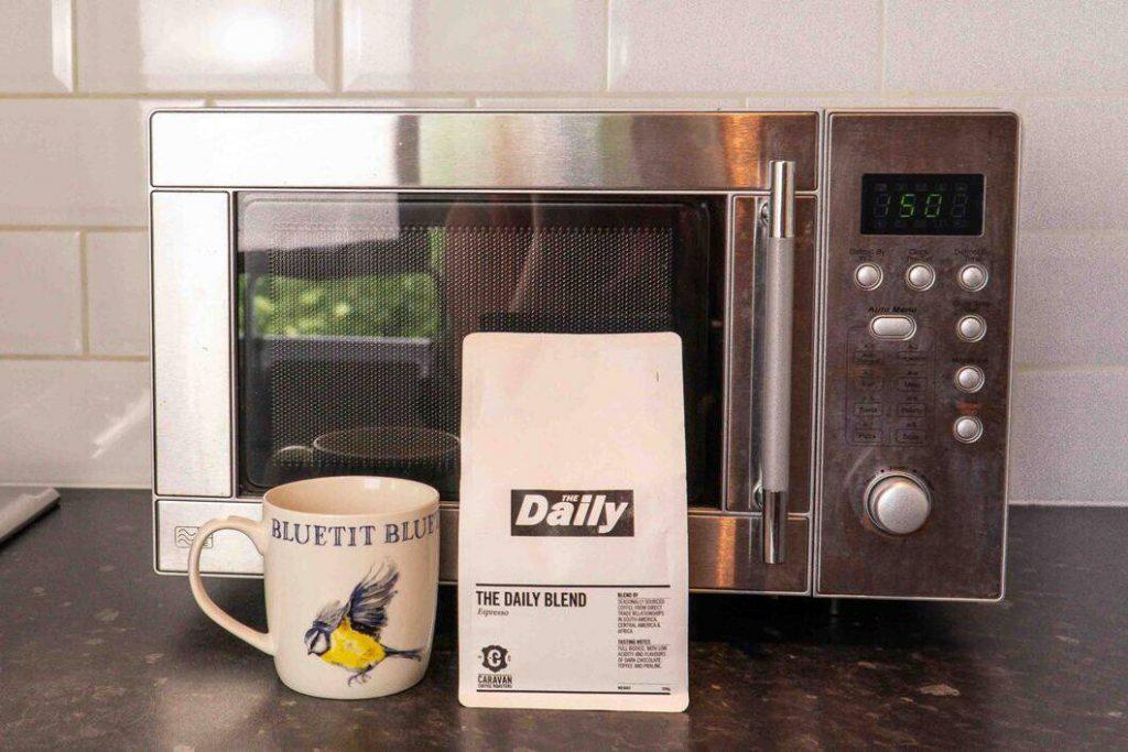 Microwaving-coffee