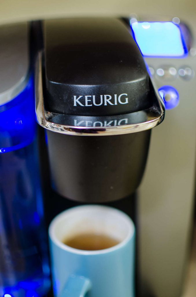 Keurig Coffee Machine with a cup of coffee