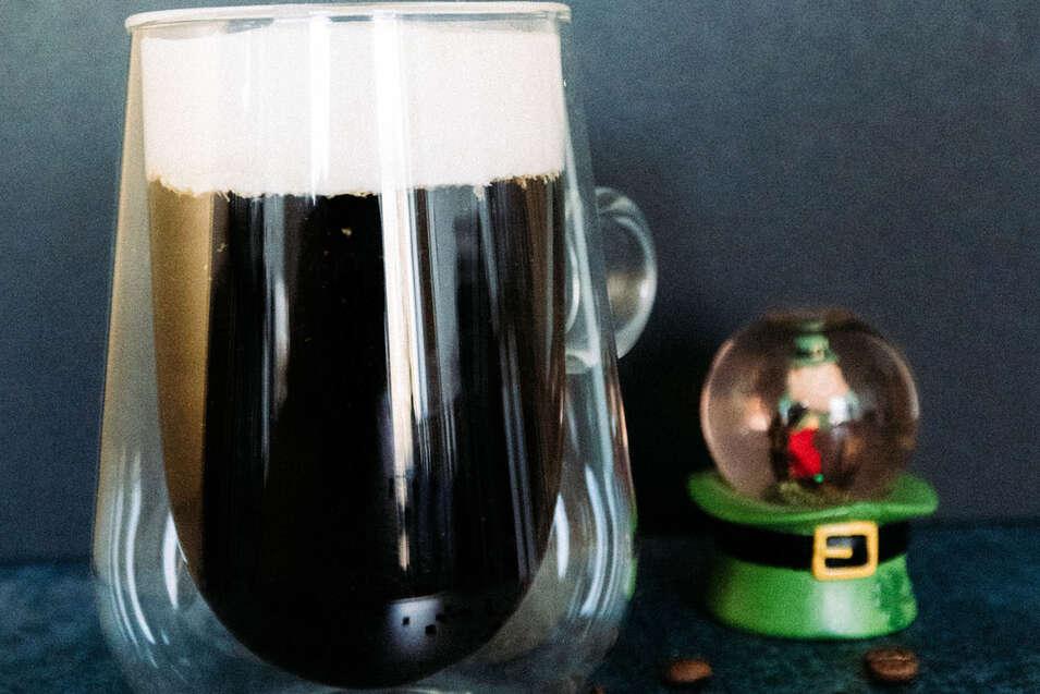 Vegan Irish Coffee with Bailey's Cream