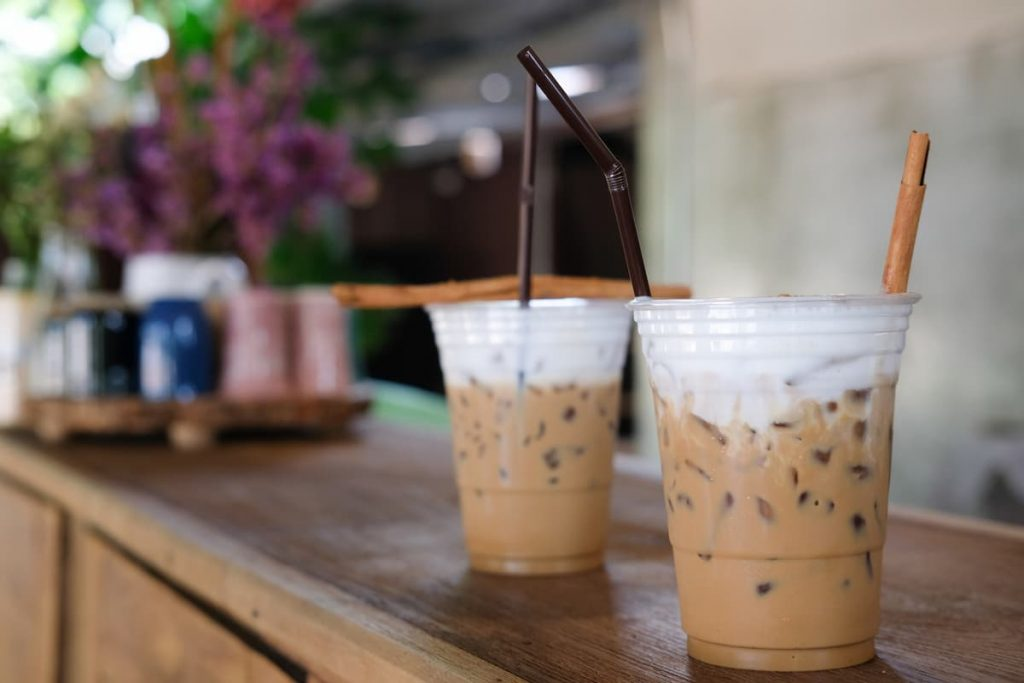 iced cappuccino coffee with milk