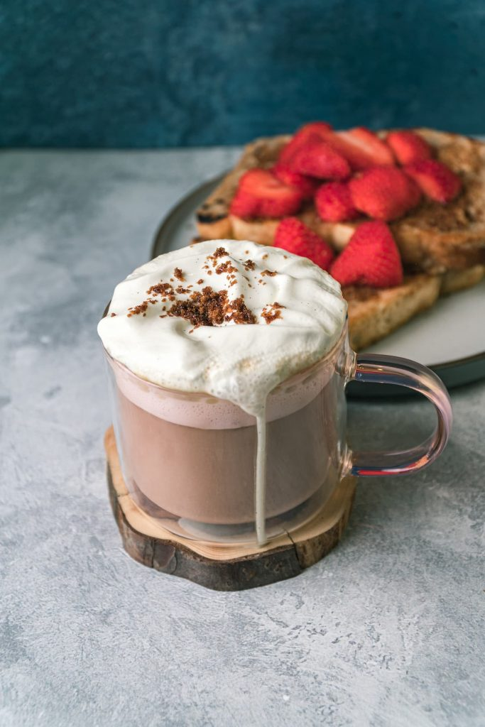French Toast Latte with French Toast