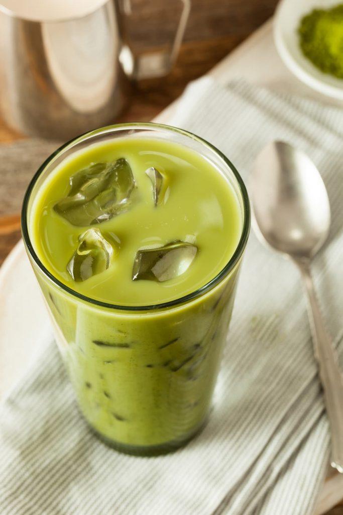 Homemade Iced Matcha Latte Tea